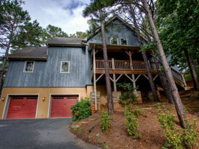 Photo for Winters Haven - a Luxurious Asheville Mountain Timber Frame Cabin W/Hot Tub & more!