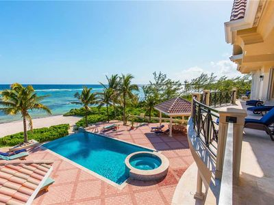 Photo for Villa Zara: Luxe Coastal Villa in Famous Rum Point with Gorgeous Pool and Jacuzzi