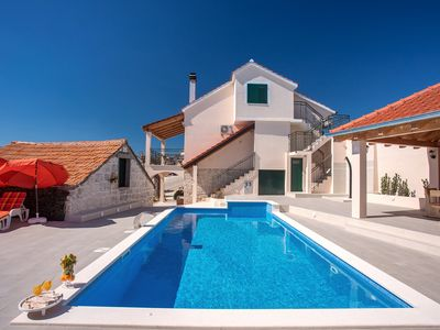 Photo for Beautiful stone villa Milena with nice pool and  breathtaking view