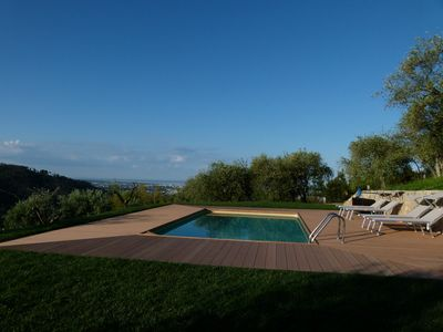 Photo for VILLA BELVEDERE - PARK WITH POOL - SEA VIEW