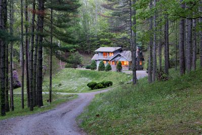 Homes are seperate and on different levels on the mountain for privacy