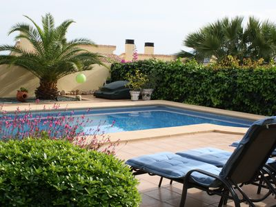 Photo for Beautiful villa with pool, air con, free wifi, peaceful location, enclosed gard