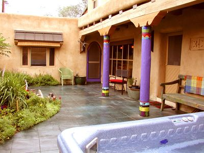 Photo for Blue Elk Casa enclosed Patio with Hot Tub Air Conditioned Walk to Plaza