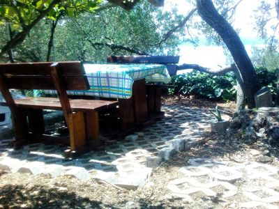 Photo for One bedroom apartment with terrace and sea view Igrane, Makarska (A-5266-b)