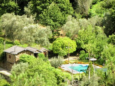 Photo for Holiday home for two in idyllic garden with saltwater swimming pool