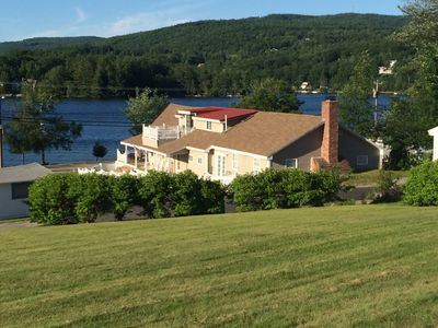 Photo for Newfound Lake Upstairs 2 Br W/ Private Roof Deck Across From Cummings Beach