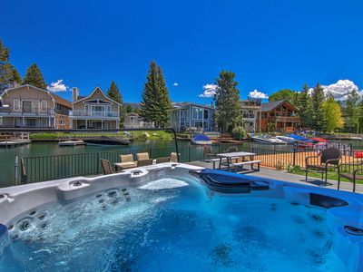 Photo for Waterfront Lake Tahoe Home w/U-Dock - By Heavenly!