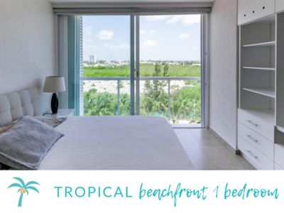 Photo for * TROPICAL beachfront 1 BDR*