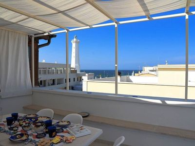 Photo for Apartment with large terrace with sea view - La Terrazza di Alcino