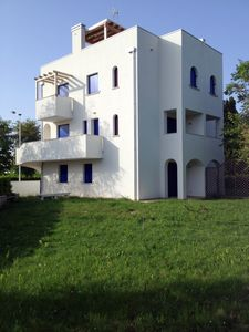Photo for New modern apartment with private roof terrace, big garden, sandy beach 400 mt.