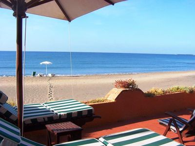 Photo for Villa Duna facing the sea with exclusive direct access to the 50m beach