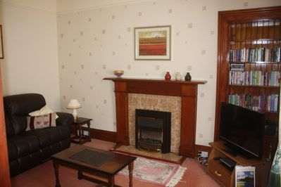 Living Room, cosy with reclining leather sofas
