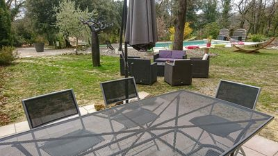 Photo for Air-conditioned villa and swimming pool exlusively for you in Drôme Provençale