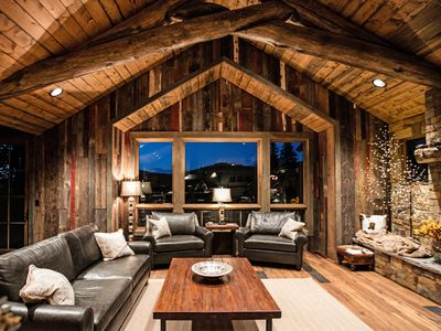 Photo for Luxury new home with rustic wood accents and modern mountain furnishings