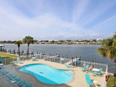 Photo for Dolphin Harbor 2A, 3 bed/3 bath, on Ole River with Beach Access, Sleeps 10