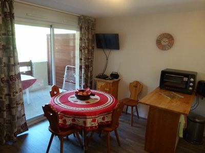 Photo for Rent apartment. T2 + cabin, 5 people maximum in St Lary village, near center.