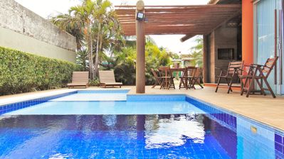 Photo for Casa Linda 4 bedrooms Pool Barbecue 250m from the beach Condominium