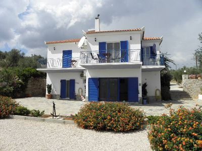 Photo for Stunning villa, panoramic sea view, sandy beach in 600m, for 6 pers.