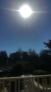 10:15am from our deck, great view for summer eclipse!