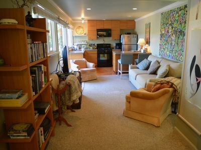 Photo for Casa Pacifica: Quiet & Serene, 1 Bd, 1 Bath, Kitchen, Pets Welcome, Pvt Entrance