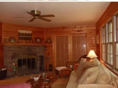 Photo for Harmony in the Woods near lake and park 3 bedrooms 2 bathrooms Cabin /house