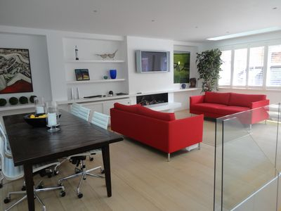 Open plan living room with dining area
