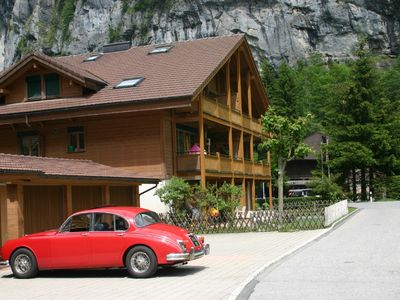 Photo for SKI/SUN Stylish modern chalet near Staubbach Falls. Jungfrau skiing/hiking area.