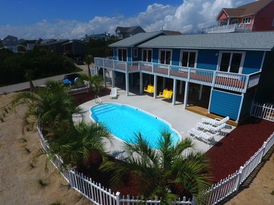 Photo for 2nd Row Ocean View With Large Pool!  All Bedrooms Face Ocean!