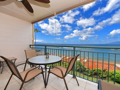 Photo for Makani Sands #205 1brm Beachfront condo with balcony on the ocean