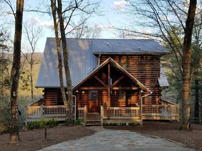 Photo for Stunning Mt View Secluded 2.5acre 5 miles to Blue Ridge FREE WIFI Pet friendly