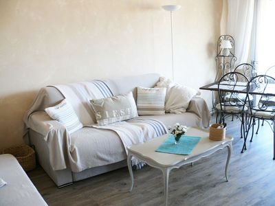 Photo for 2 bright rooms near sea, train, Monaco. Carnolès district near Menton.