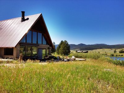 Photo for Grandpa's Cabin - Private pond, blue ribbon fishing, spectacular views, 7 rooms!