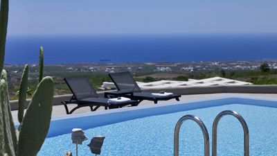 Photo for Santorini Luxurious SeaView Mansion 6br upto 14guests Private Pool and Jacuzzi