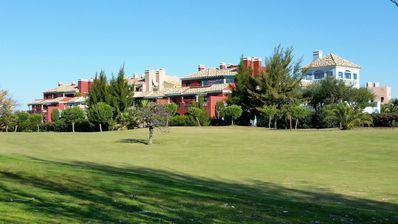 Photo for deluxe apartment on golf course, air con, wifi