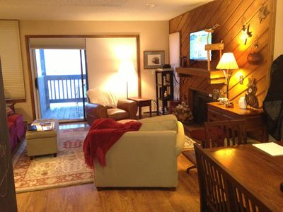 Photo for 2 BDR Mountain top condo with amazing views.  Walk to the pool/spa. Guest passes