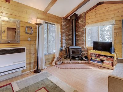 Photo for Cozy, rustic cabin w/ wood stoves & free WiFi - perfect peaceful retreat!