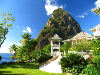 Photo for Mesmerizing Piton/Ocean Views, Full Staff including Chef, AC, Pool, Free Wifi, Concierge