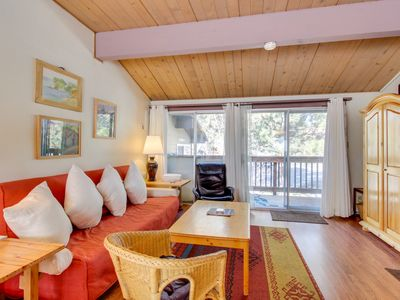 Photo for Dog-friendly condo with shared pool & hot tub near the action of Mammoth Lakes!