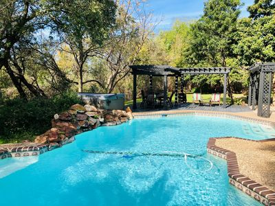 Photo for Botanical Paradise w/ Private POOL/HOT TUB/Nature! 4mi to SIX FLAGS/LaCantera!