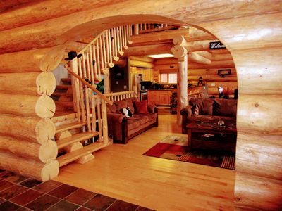 Photo for Beautiful 5 Bedroom Log Cabin