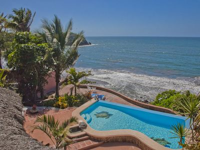 Photo for Platanitos Ocean Front Villa 4BR/2.5+BA, Private Pool, Wi-Fi