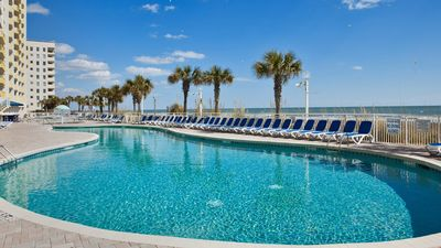 Photo for Pool. Oceanfront Balcony. Lazy Rivers. Suite on Crescent Beach!