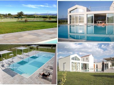 Photo for Ca lean, modern villa with pool