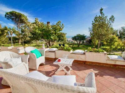 Photo for Il Giardino degli Aranci - Villa with sea view