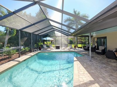 Photo for *Summer special!* Villa Blue Palms -- 3bed/2bath pool home in Cape Harbour