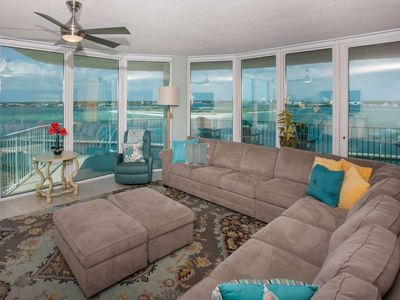"""Photo for Gulf View 2 Windows, 4/3 Condo/Sleeps 14/65"""" TV/Jetted Tub/Private Balcony/Wet Bar - Caribe B-0502"""