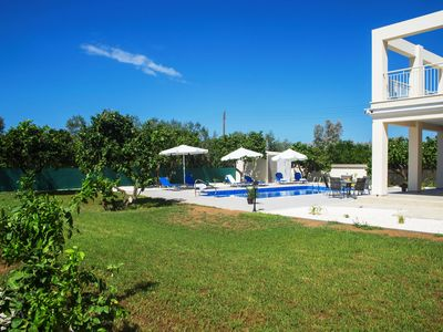 Photo for Stunning new Beach Front villa,1st Line to the beach, Large Pool, Wonderful Area