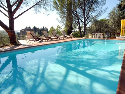 Photo for Beautiful Villa with pool and stunning views in the heart of Chianti