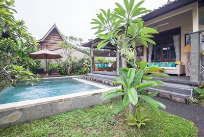 Ubud Garden Bungalow/Pool/AC/Rice Field
