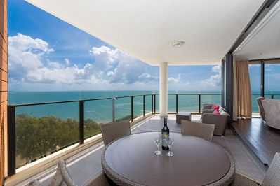 Views from our balcony of Moreton Bay